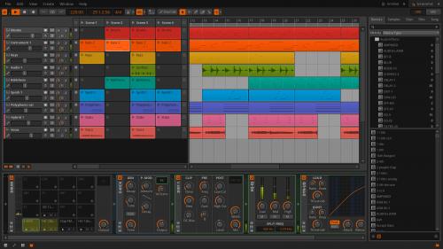 Bitwig Studio arranger