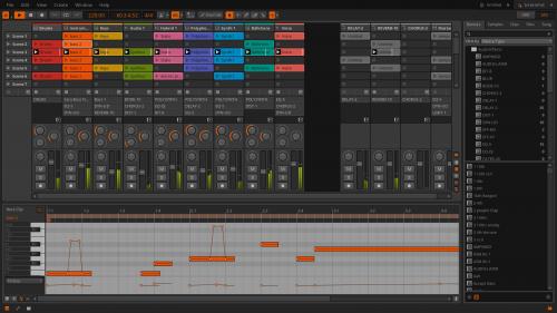Bitwig Studio mixer