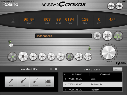 SOUND Canvas for iOS2