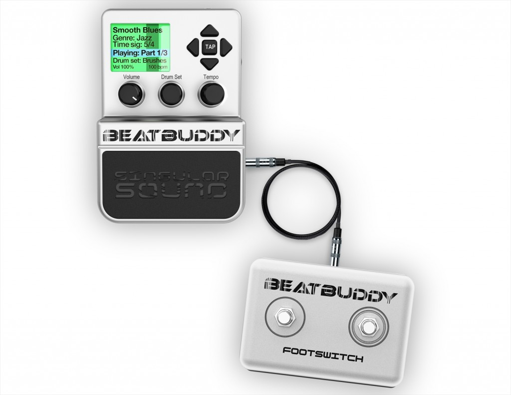 BeatBuddy Attached To Footswitch