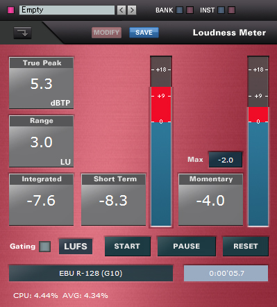 LoudnessMeter