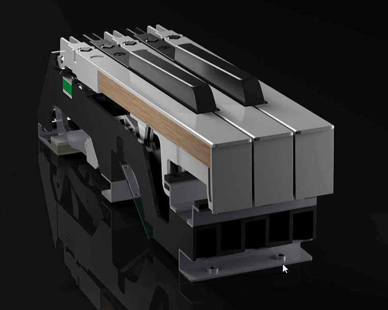 Roland RD-2000に搭載されているPHA-50 プログレッシブ・ハンマー・アクション・キーボード
