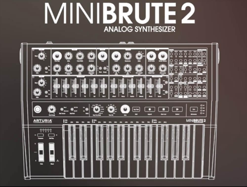 48パッチベイ搭載のアナログ・シンセサイザー Arturia MiniBrute 2
