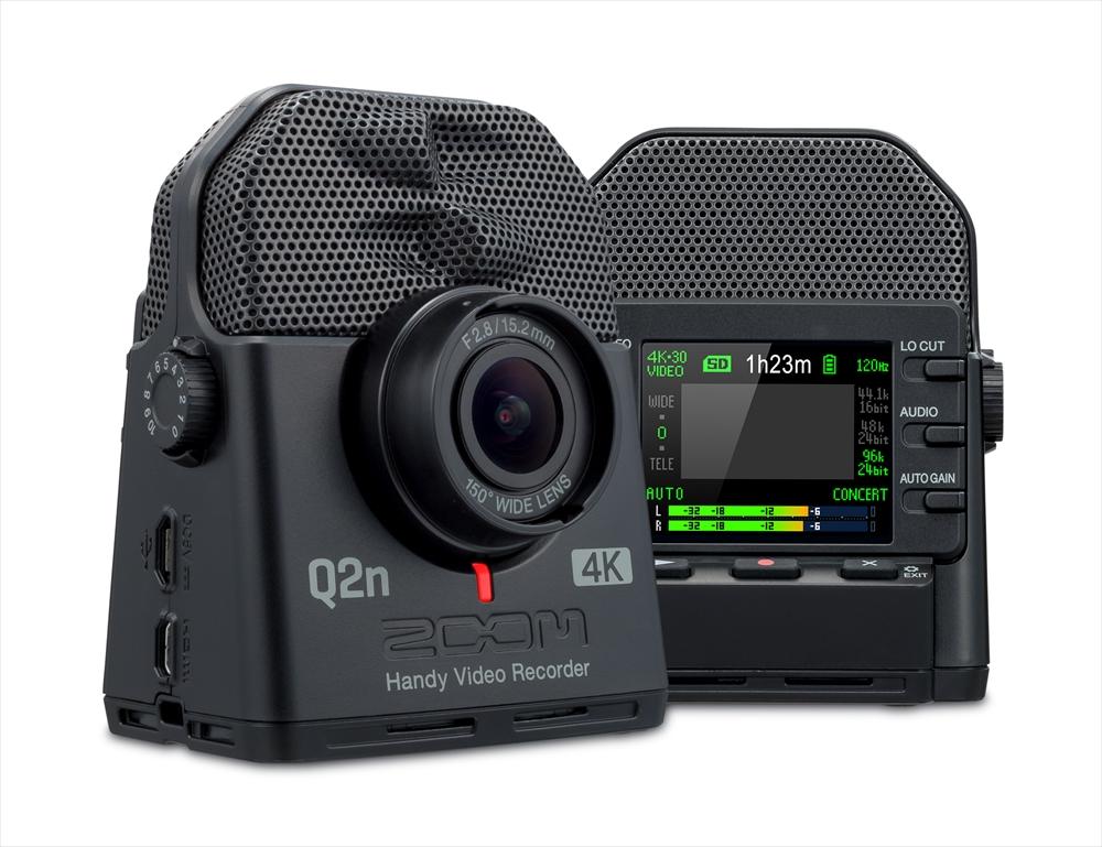 ZOOM Q2n-4K | ミュージシャンのための4K対応+高音質ビデオカメラ