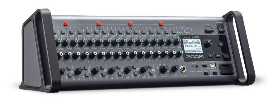 ZOOM LiveTrak L-20R | iPadからコントロール可能なラックマウント型デジタルミキサー