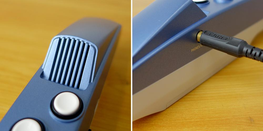 Aerophone miniのスピーカーとヘッドホン端子