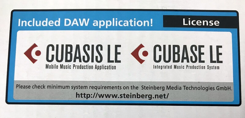 Windows/ Mac用DAW Steinberg Cubase LEのラインセンスをバンドル