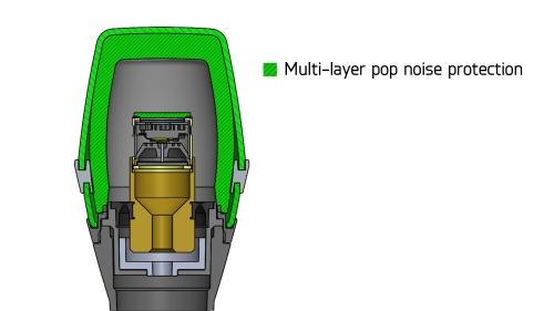 ポップノイズを防ぐ三層構造のグリルボール