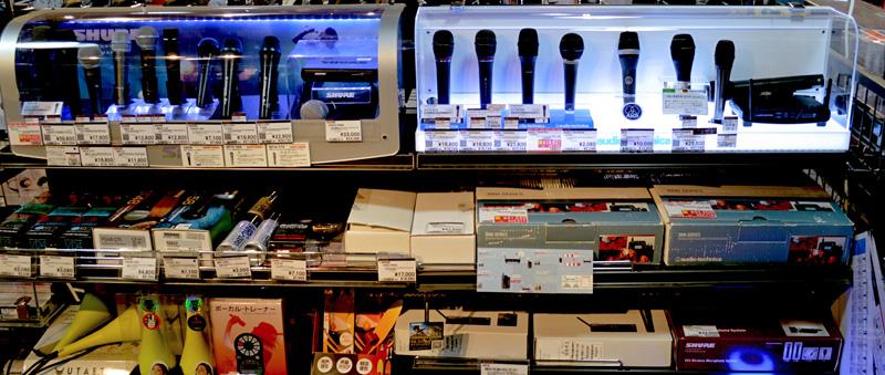 神戸三宮 ライブマイク 販売コーナー