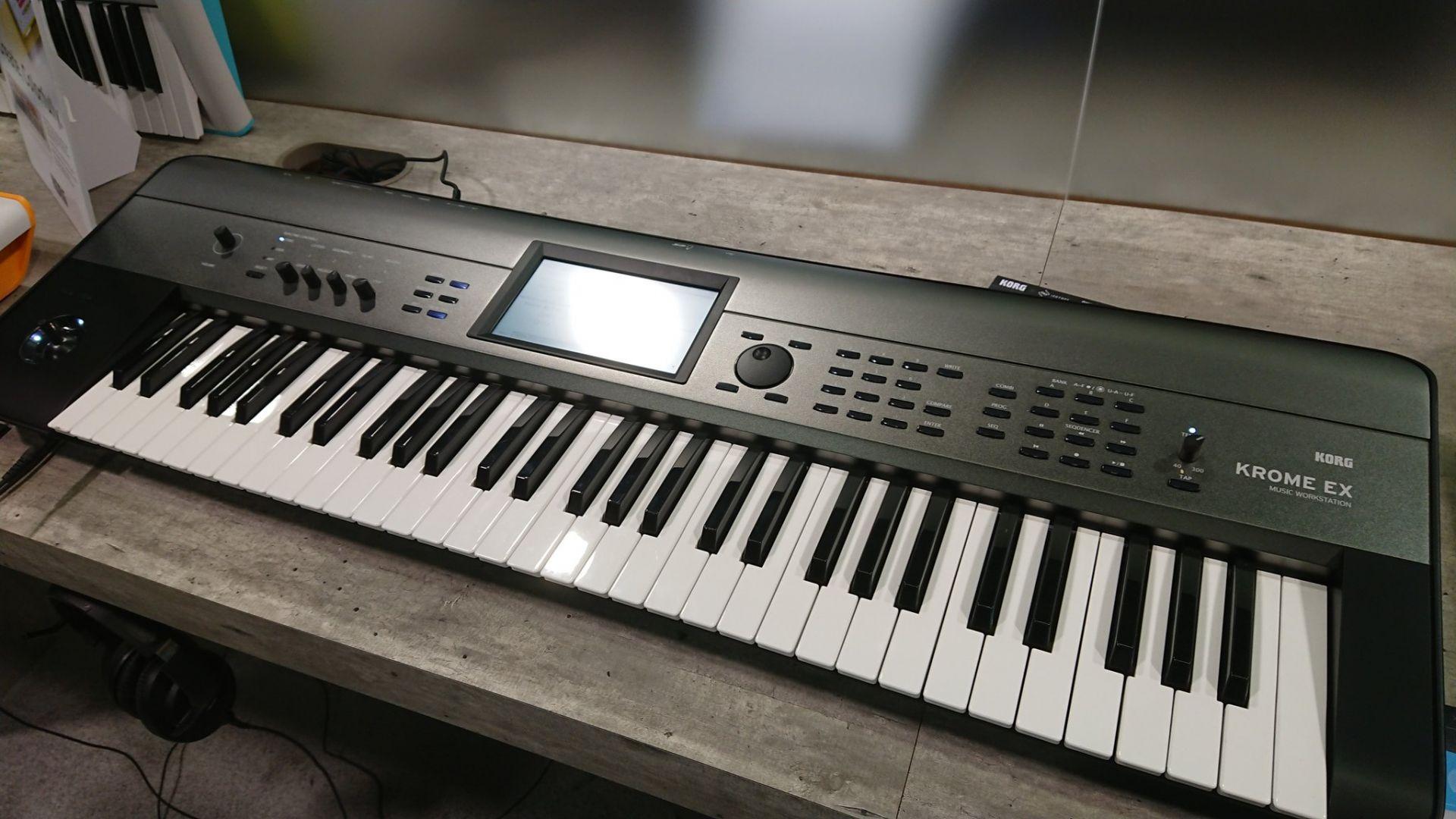 KORG KROME EX シリーズ | 新ピアノやEDM系音色を追加した