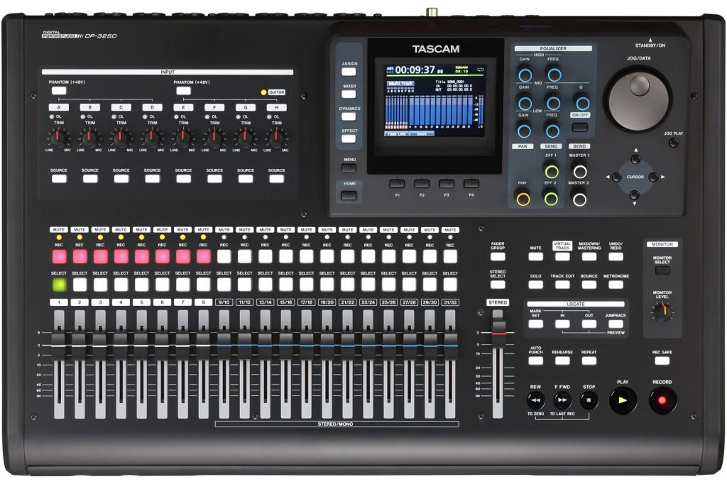 Tascam Digital Portastudio『dp 32sd』発表!録音、編集、マスタリングまでできる本格派