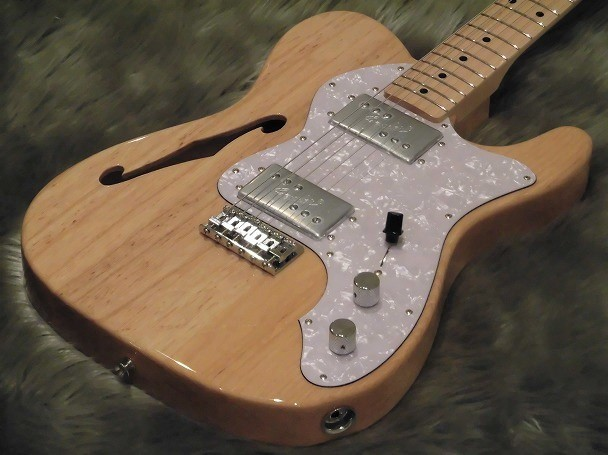 Japan Exclusive Series Classic 70s Tele Thinline Maple Fingerboardのボディトップ-アップ画像