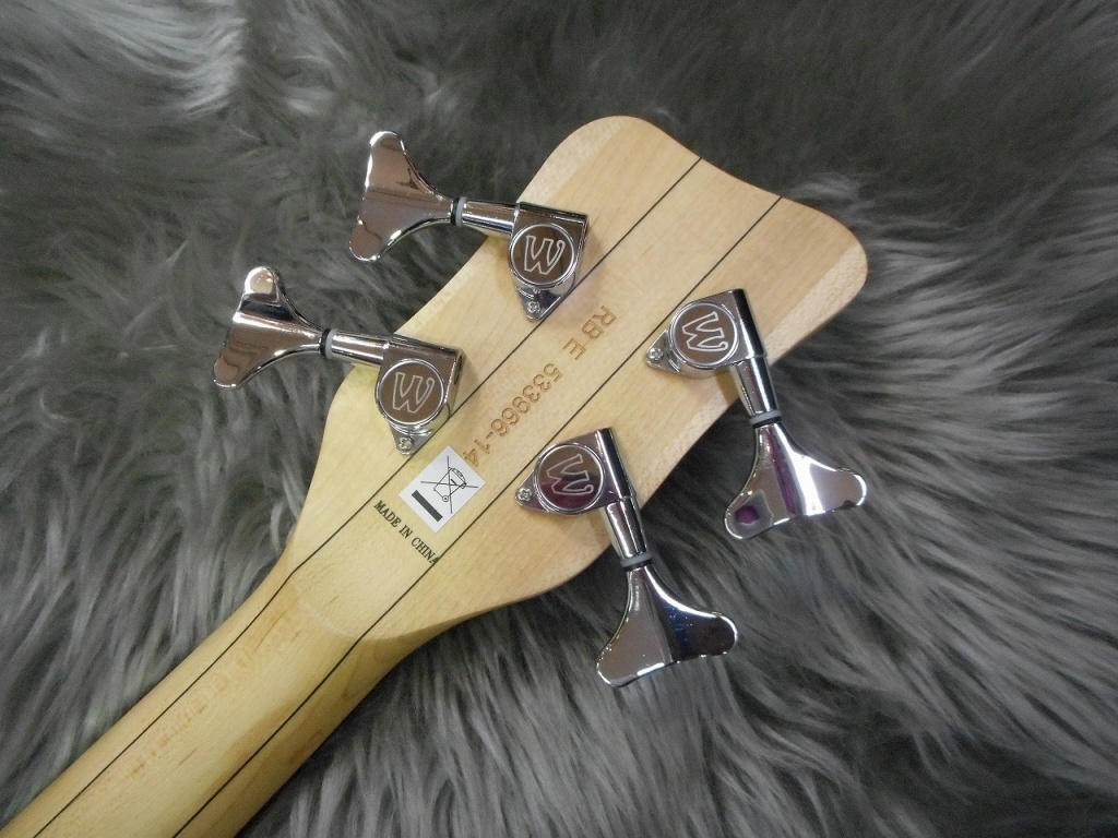 Rock Bass Streamer LX 4strings Maple Top Limitedのヘッド裏-アップ画像
