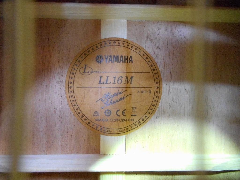 LL16M AREの指板画像