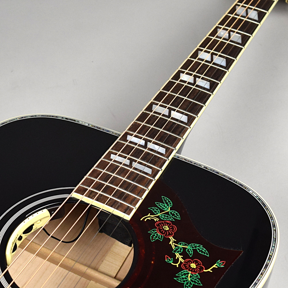 DOVE ABALONE CUSTOM (Ebony)の指板画像