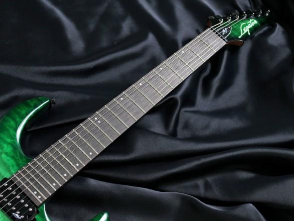 N7-200 Gloss Emerald Burst QMの指板画像