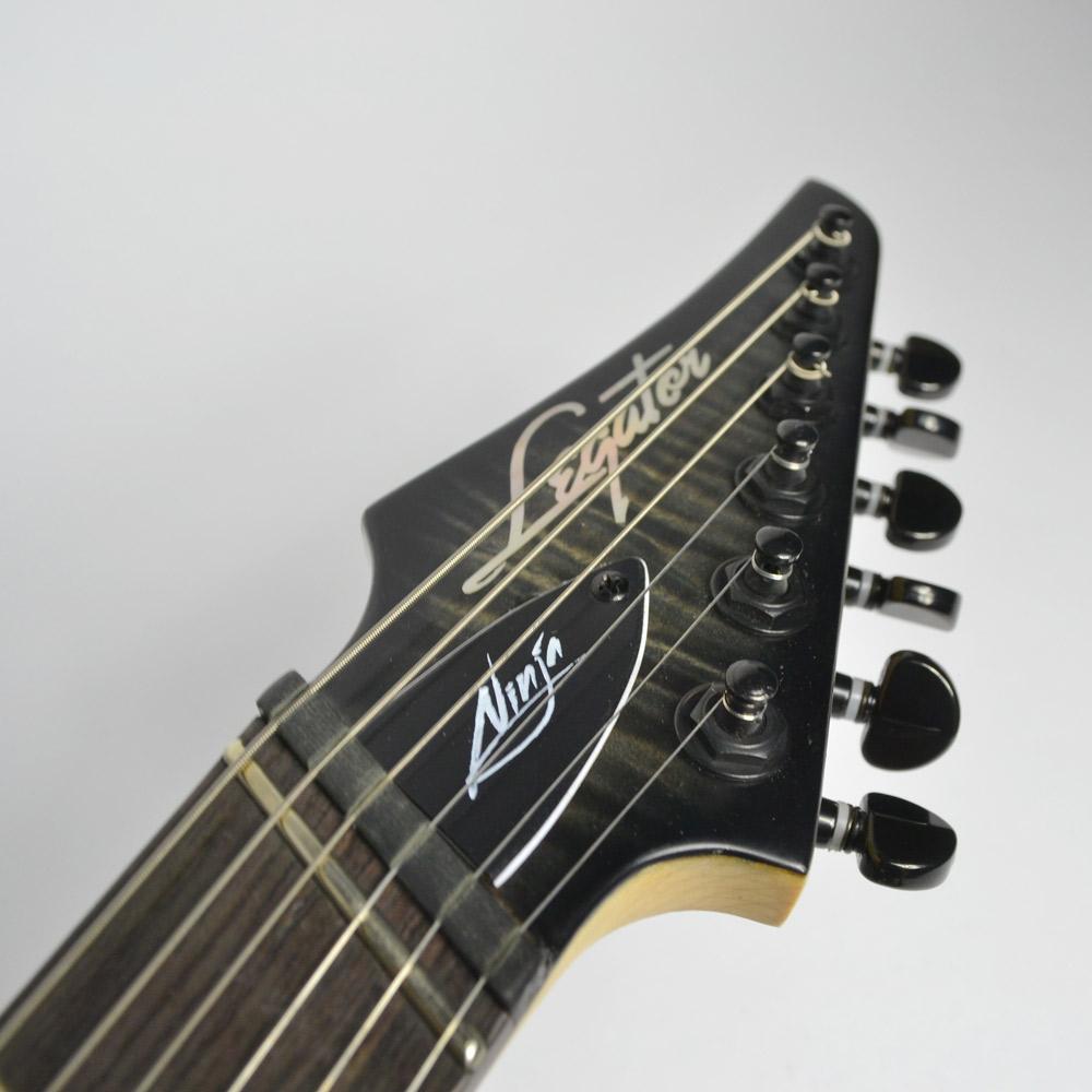 Ninja R 200-SE Fanned-Fret/Black/のヘッド裏-アップ画像