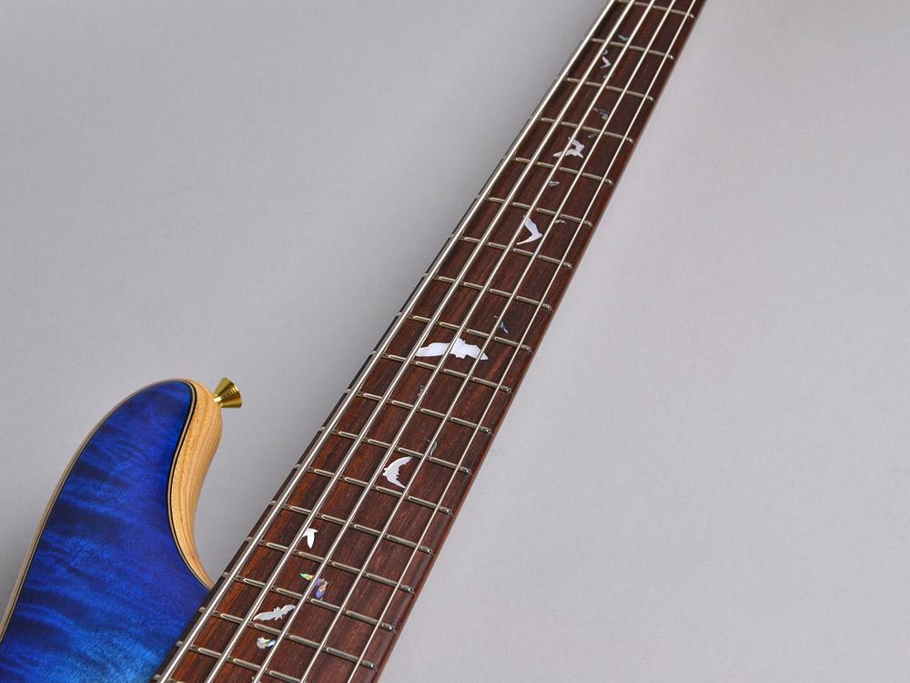 NB5HR EM/ASH Bat inray【Luthier's Model】の指板画像