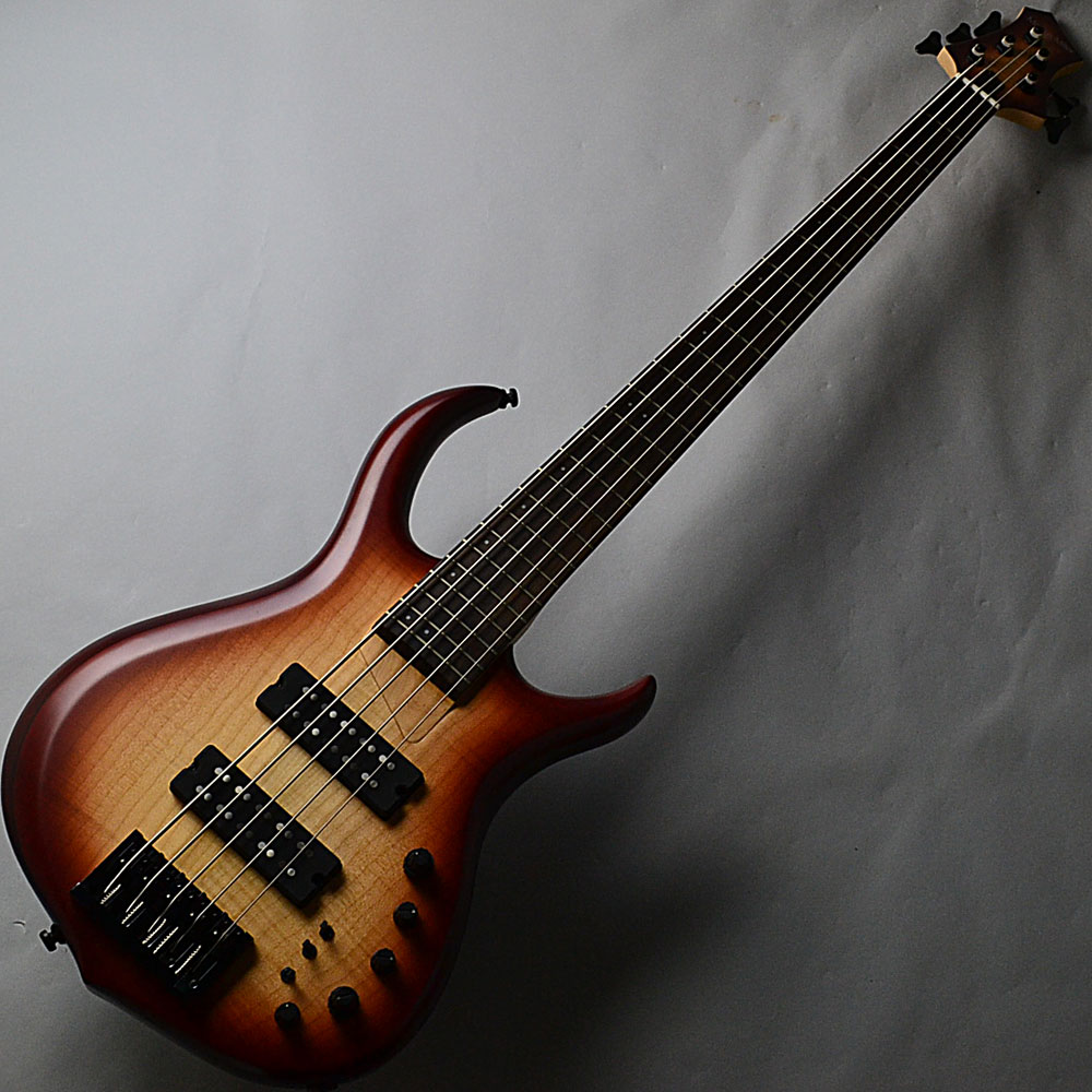 M7 5st Alder+Maple/See Thurough Redのボディトップ-アップ画像