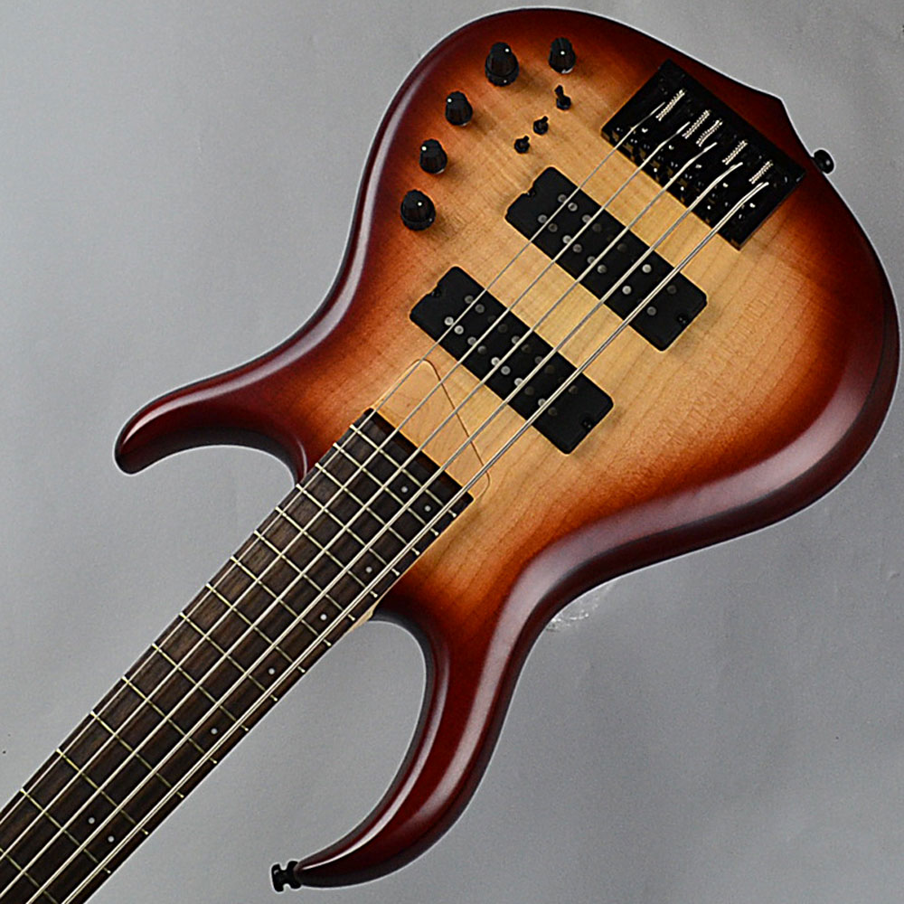 M7 5st Alder+Maple/See Thurough Redの指板画像
