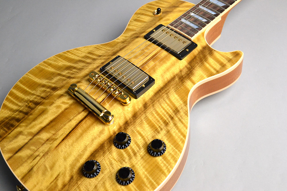 Les Paul Premium #120/150 Figured Myrtlewood Top/Backのボディトップ-アップ画像