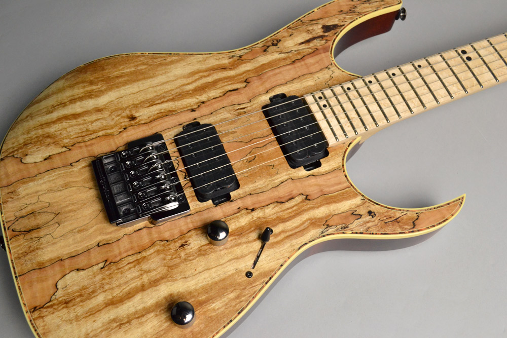 RG721MSM Natural Flat Spalted Maple Topのボディトップ-アップ画像