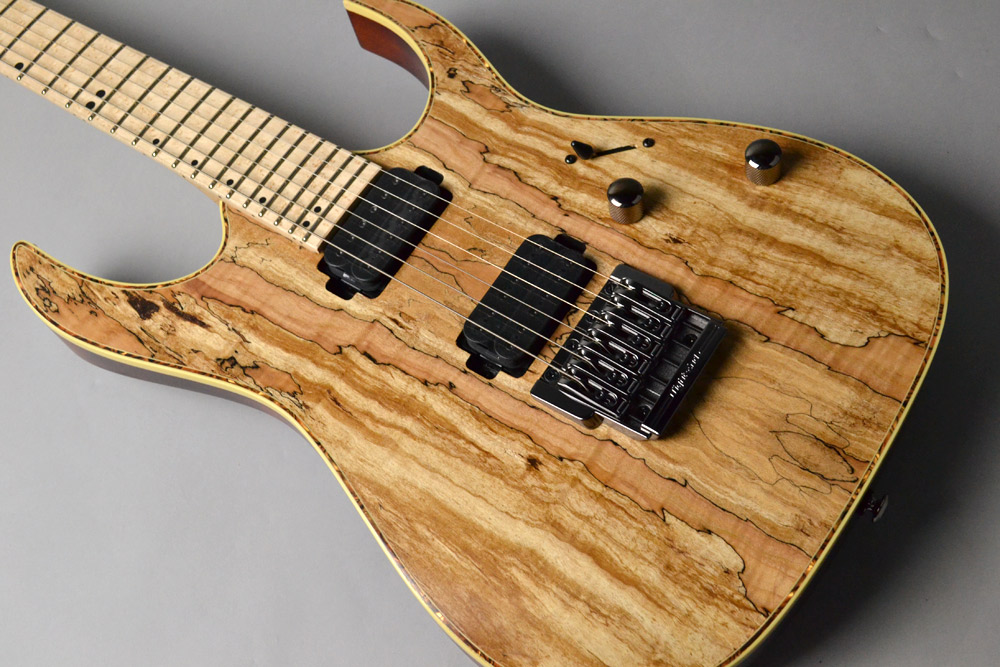 RG721MSM Natural Flat Spalted Maple Topの全体画像(縦)