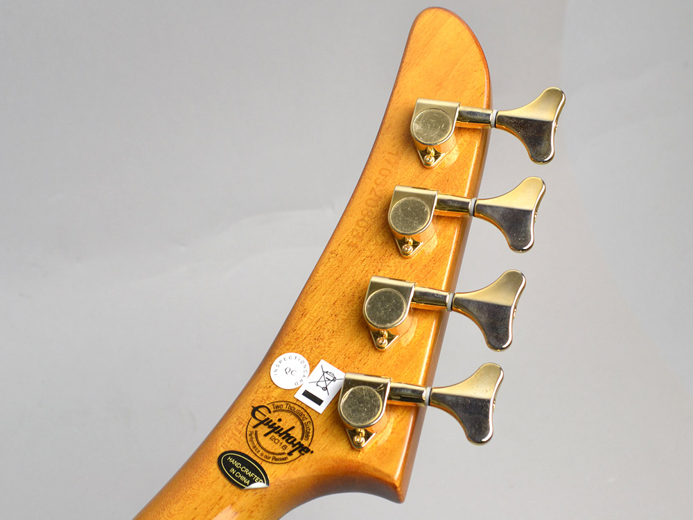 Ltd. Ed. Korina Explorer Bassのヘッド裏-アップ画像