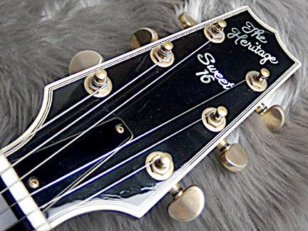 SWEET 16 1996年製フルアコギターのヘッド画像
