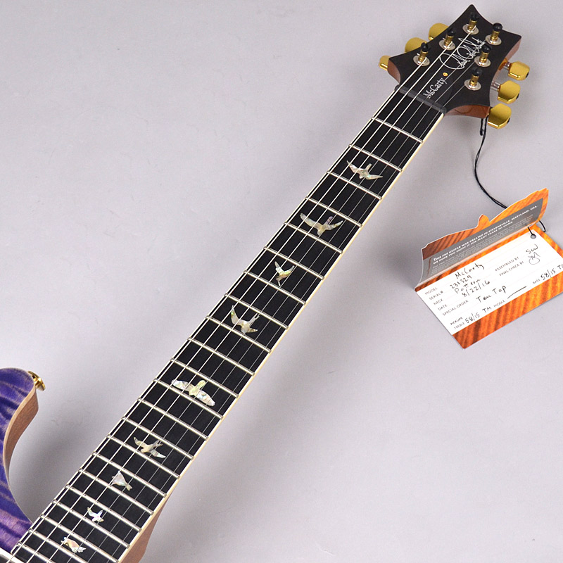 McCarty 58/15 Limited Blueberry 10topの指板画像