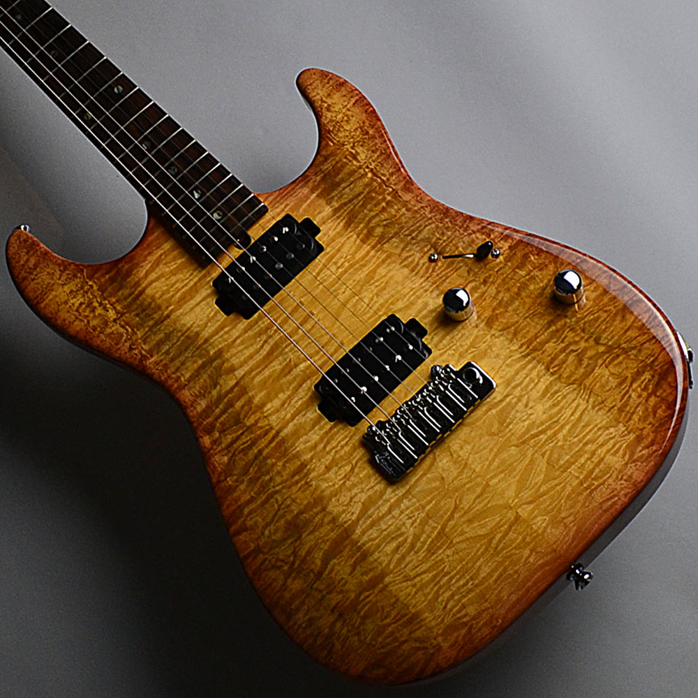 DST-22 Custom/2tone Quilt Maple/Tea Burstのボディバック-アップ画像