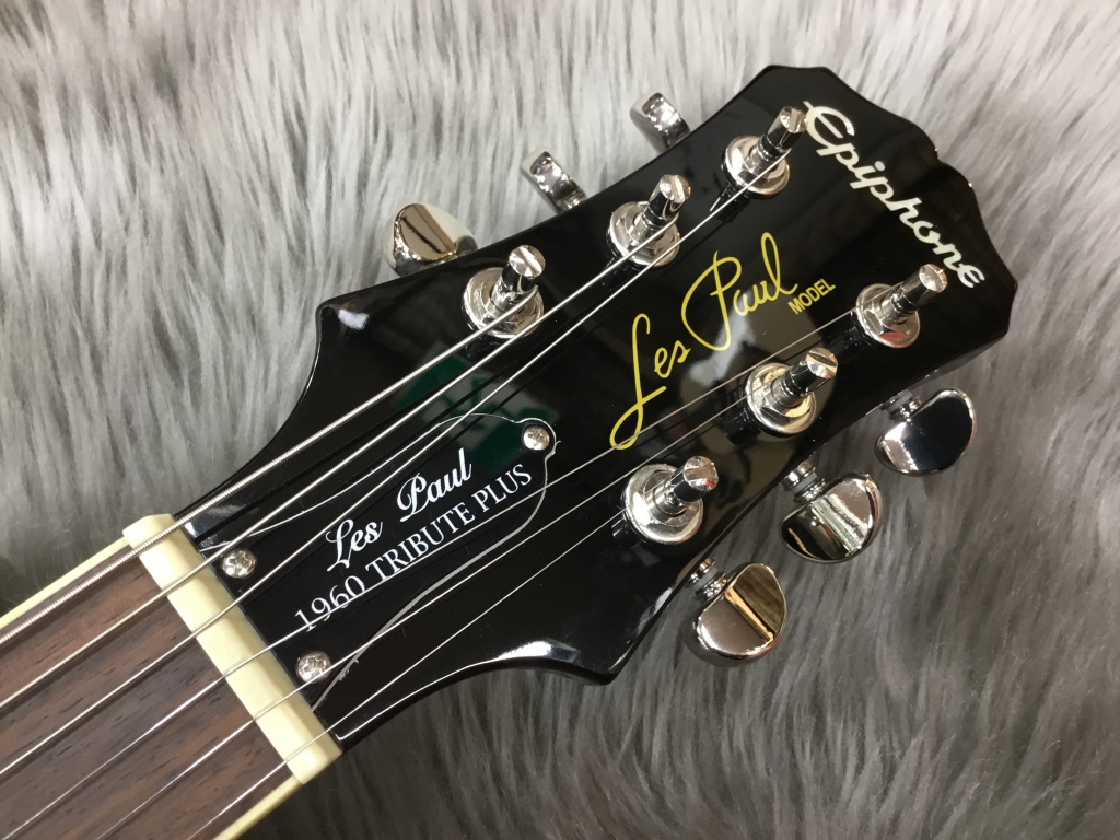Les Paul Tribute Plus Outfit Black Cherryのヘッド裏-アップ画像