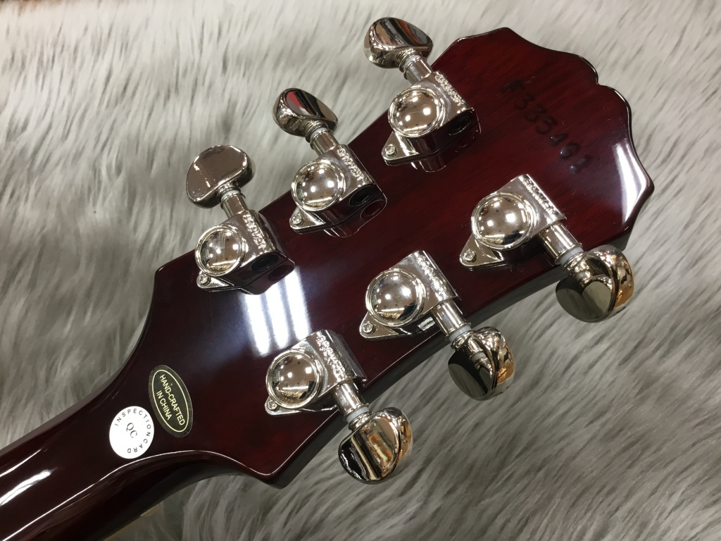 Les Paul Tribute Plus Outfit Black Cherryの指板画像