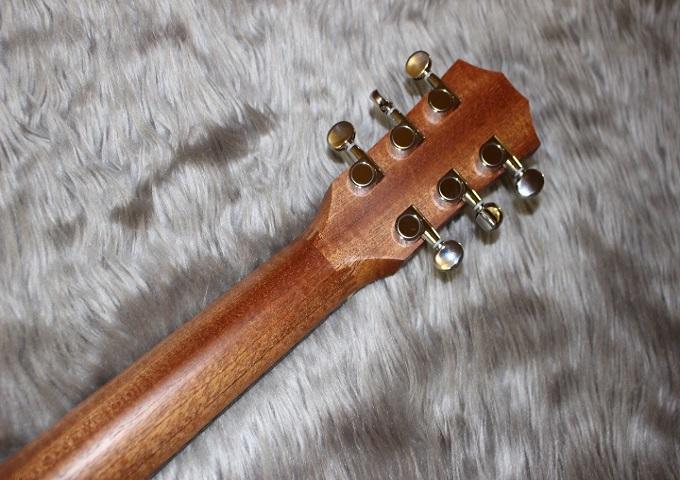 Baby Taylor-e Koaのヘッド裏-アップ画像