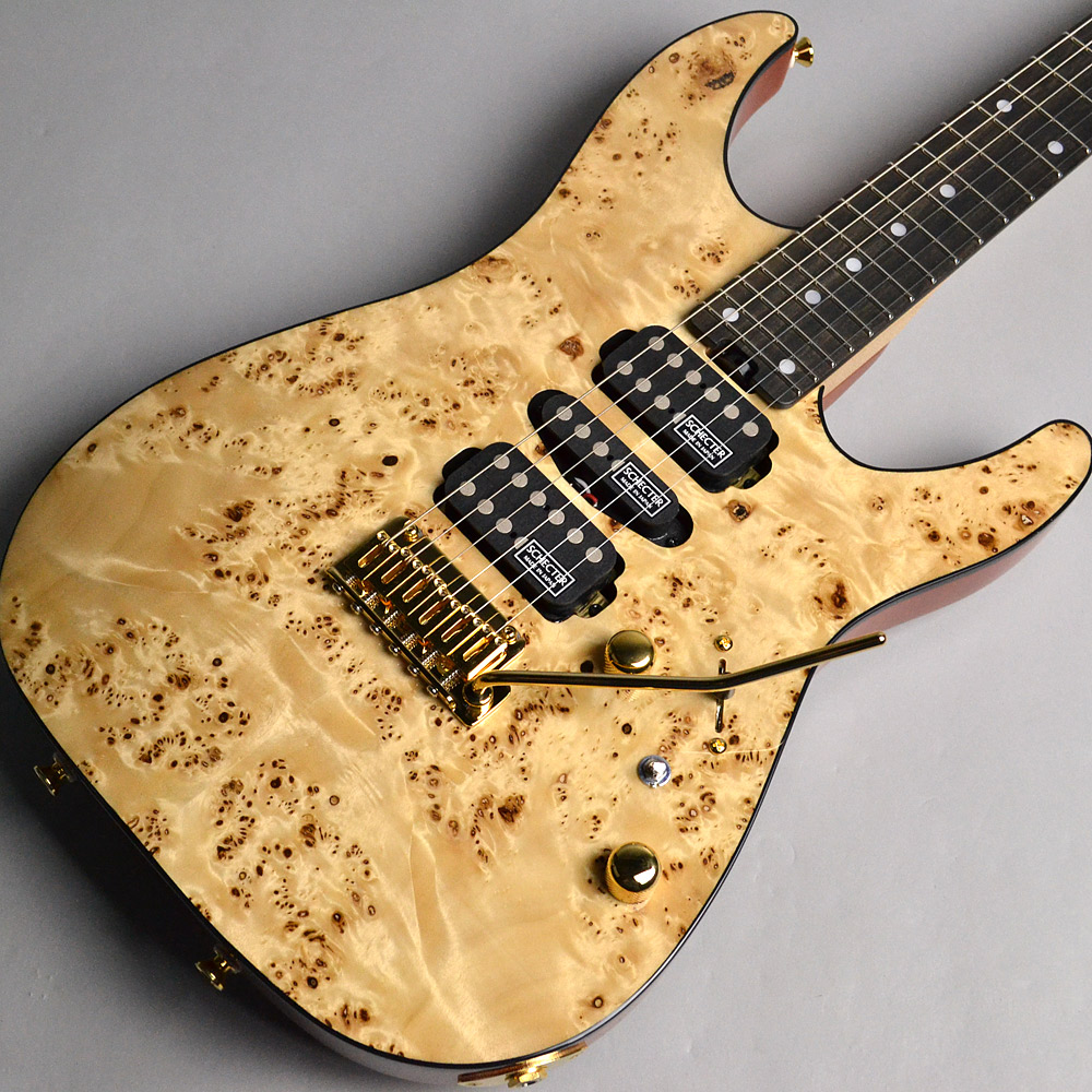 NV-DX-24-MH-VTR/MAPPA BURL/E Gloss Naturalのボディトップ-アップ画像