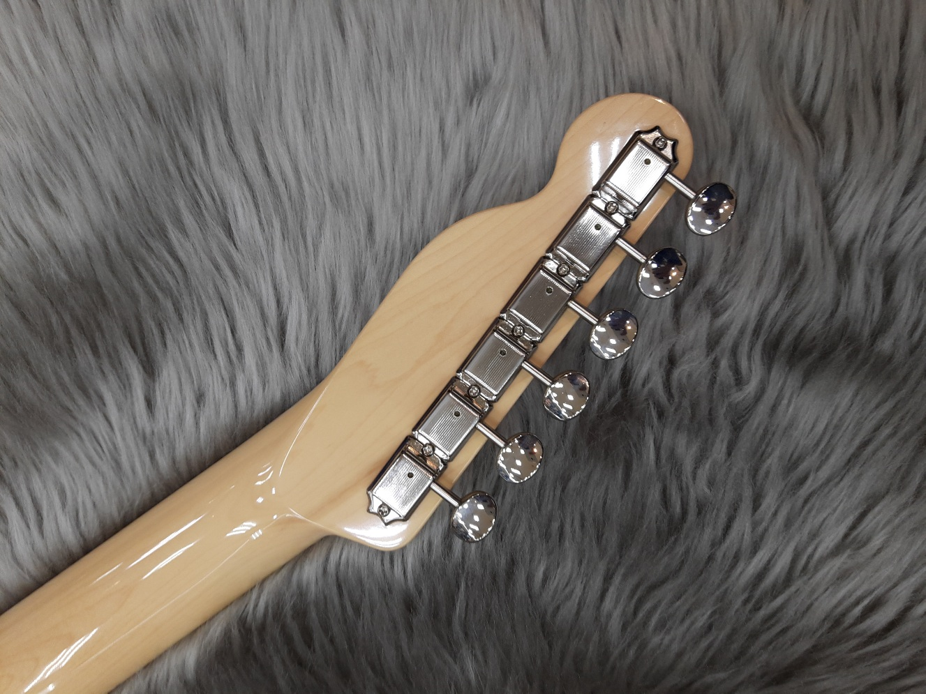 Japan Exclusive Classic 69 Tele Thinline MAHOのヘッド裏-アップ画像