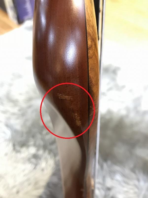 SCB-5 Mesquite Burlの指板画像