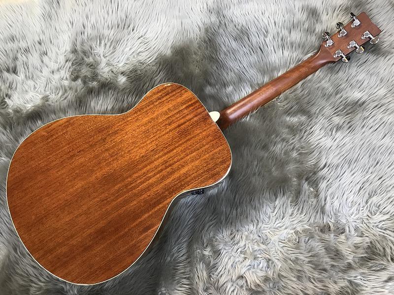 FS-TA トランスアコースティック™ギターのボディバック-アップ画像