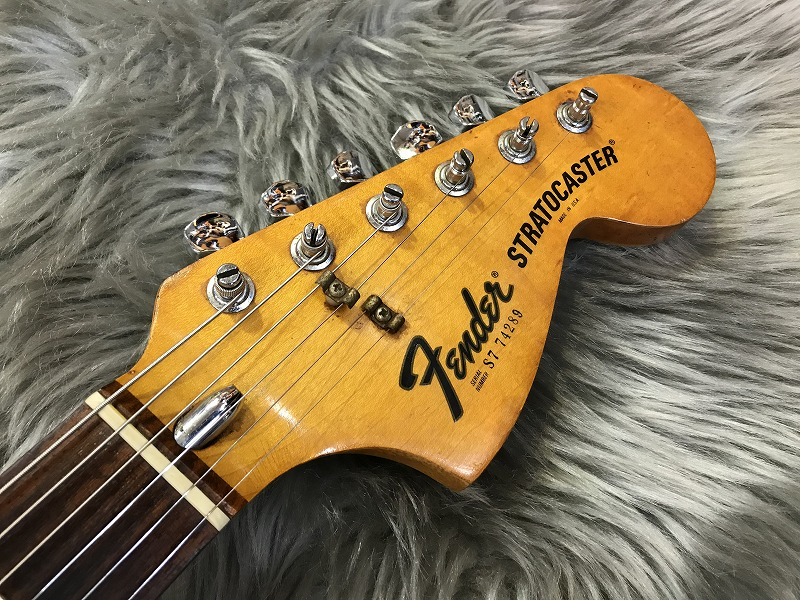 Stratocaster Hardtail 1977 #S7 74289のヘッド画像