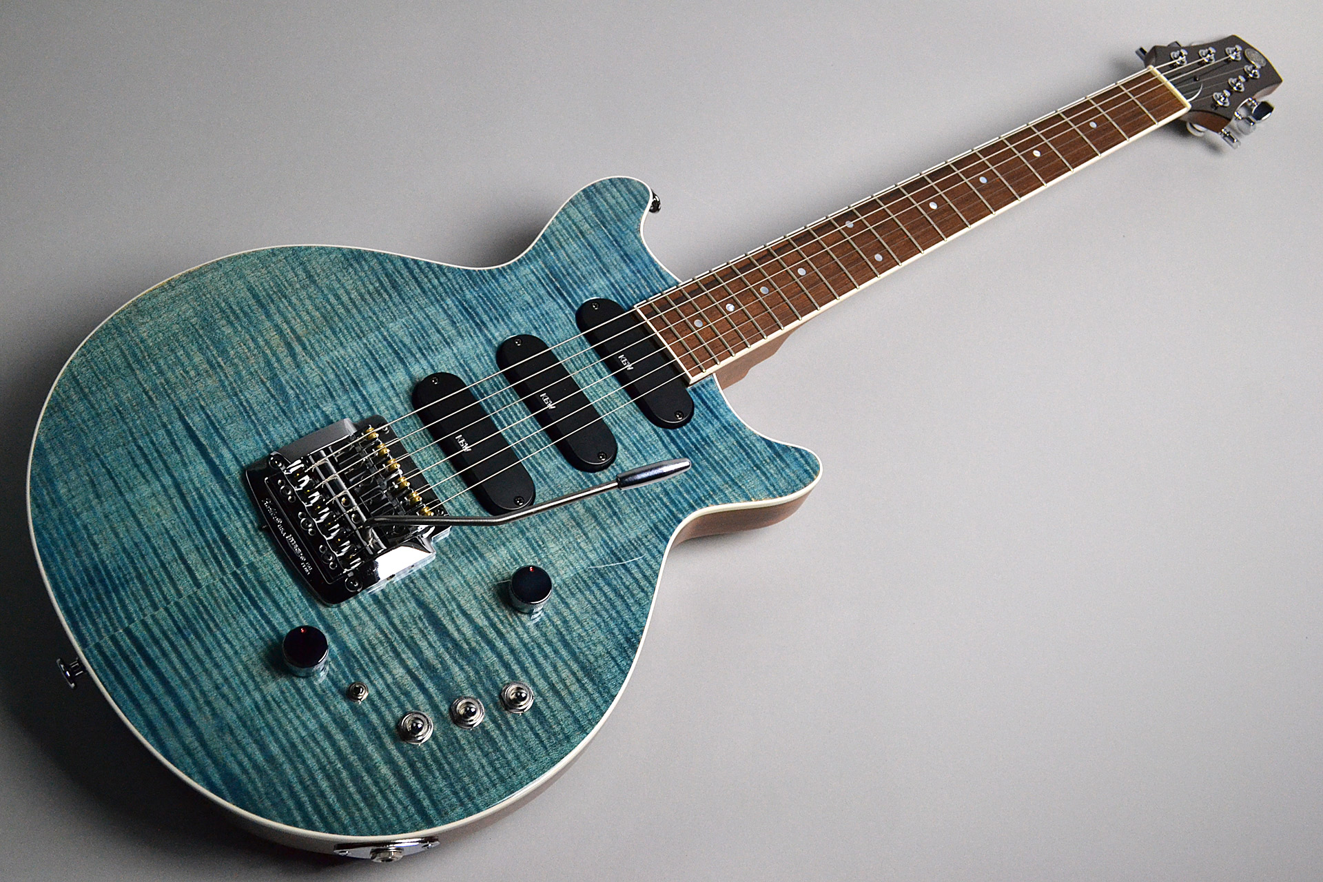 Kz One Solid 3S23 Kahler Figured Maple Blue Denim