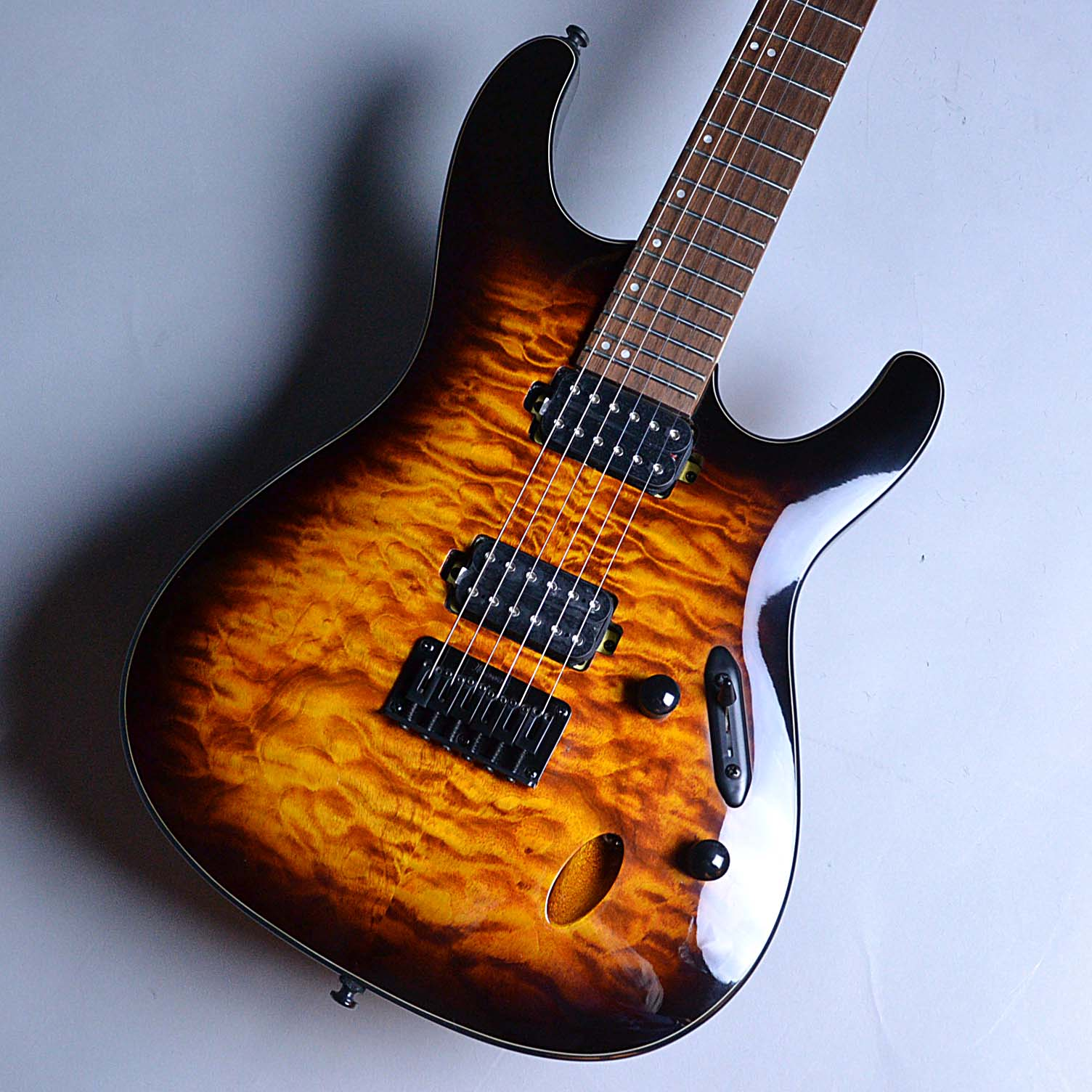 Ibanez  S621QM Dragon Eye Burst 写真画像