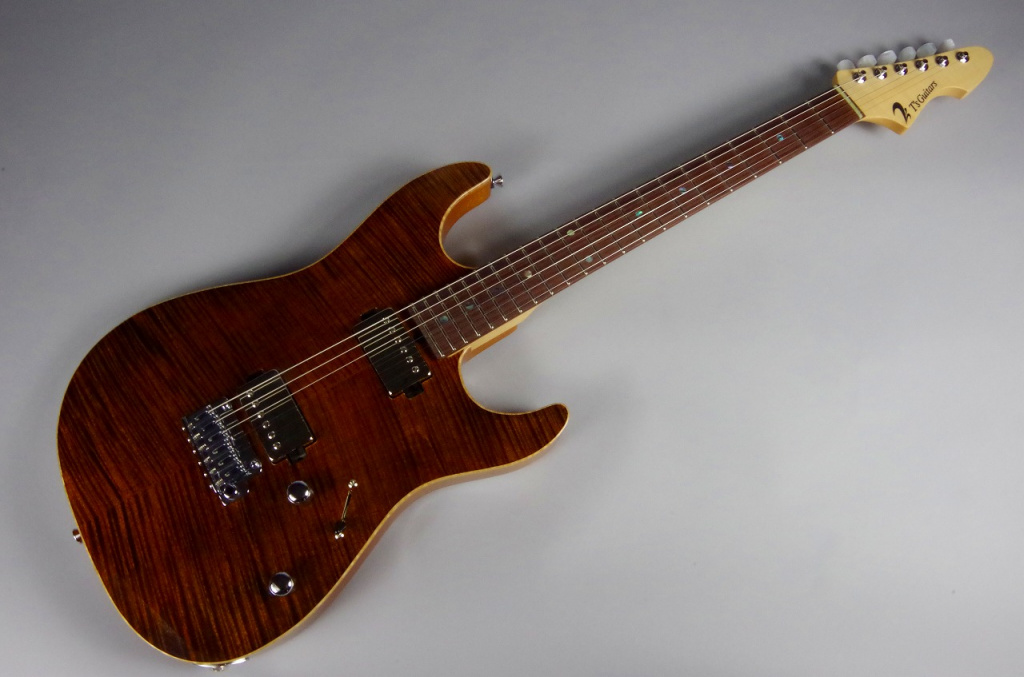 DST-DX22 Tiger eye – T's Guitarsのボディトップ-アップ画像