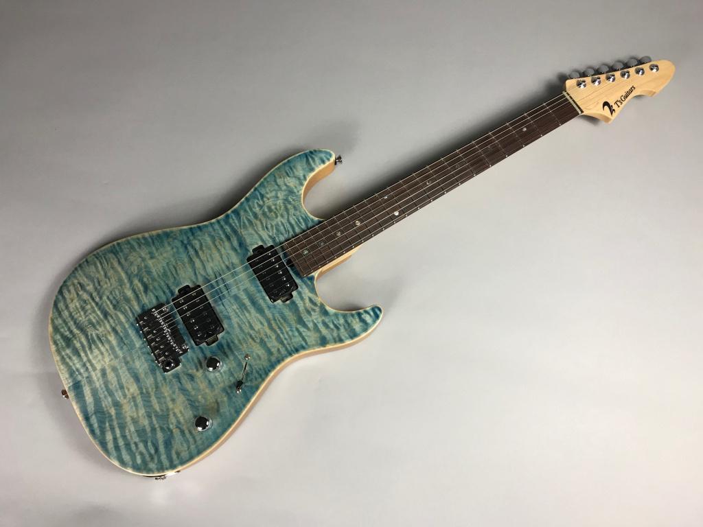 DST-Spider22/ FlameMaple – T's Guitarsのボディトップ-アップ画像