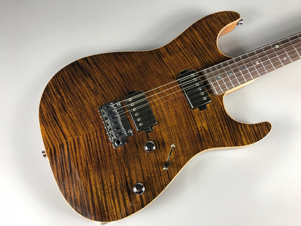 T's Guitars DST-DX22 Tiger eye – T's Guitars 写真画像