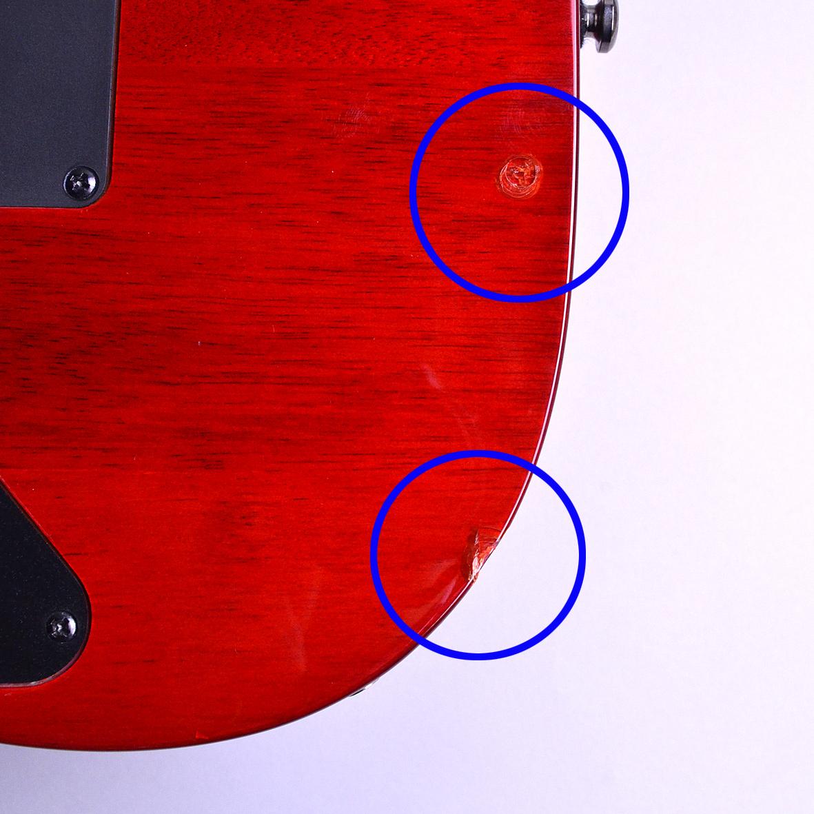 RG370FMZ  Transparent Red Burstの指板画像