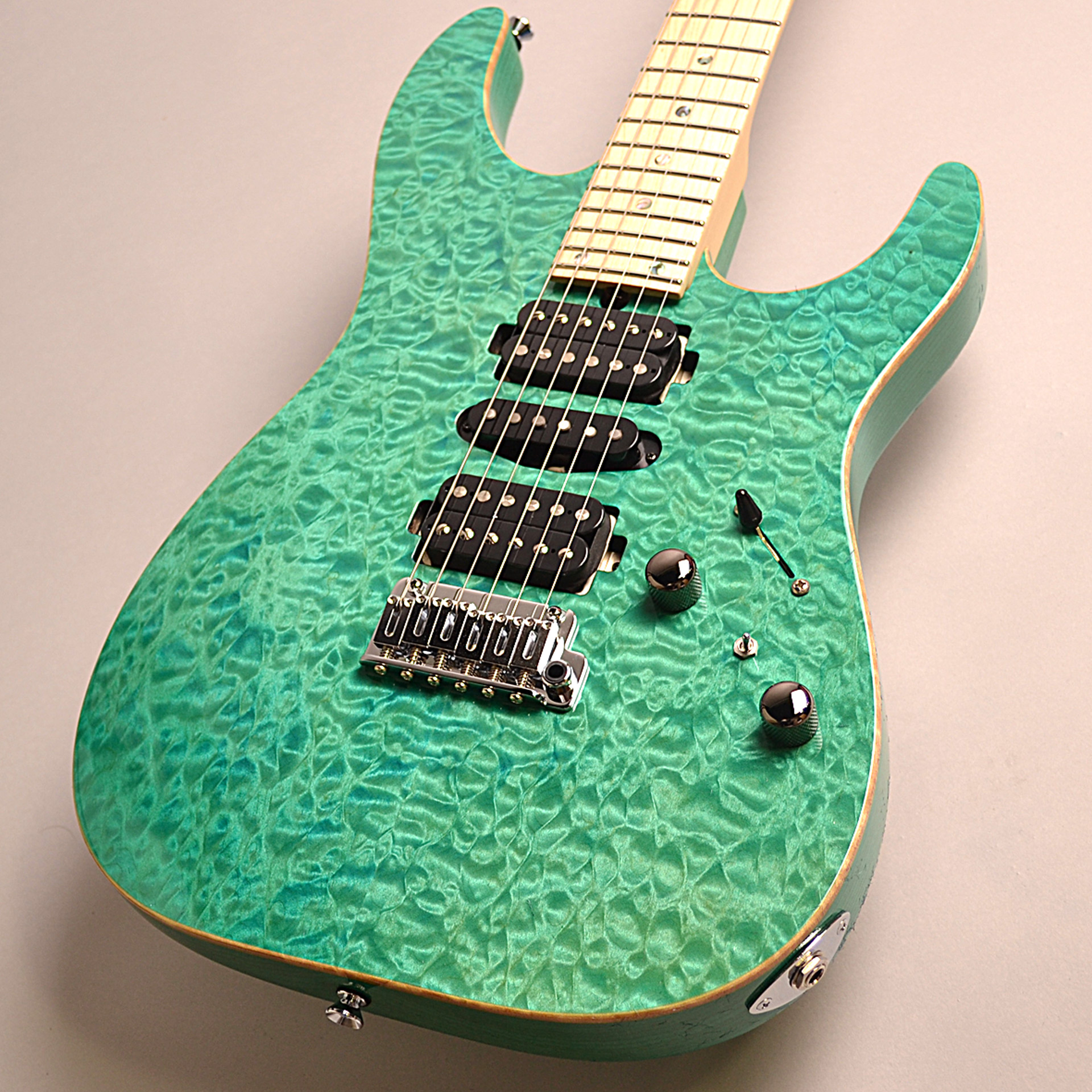 T's Guitars DST-PRO24 Maple (BoraBoraBlue)のボディバック-アップ画像