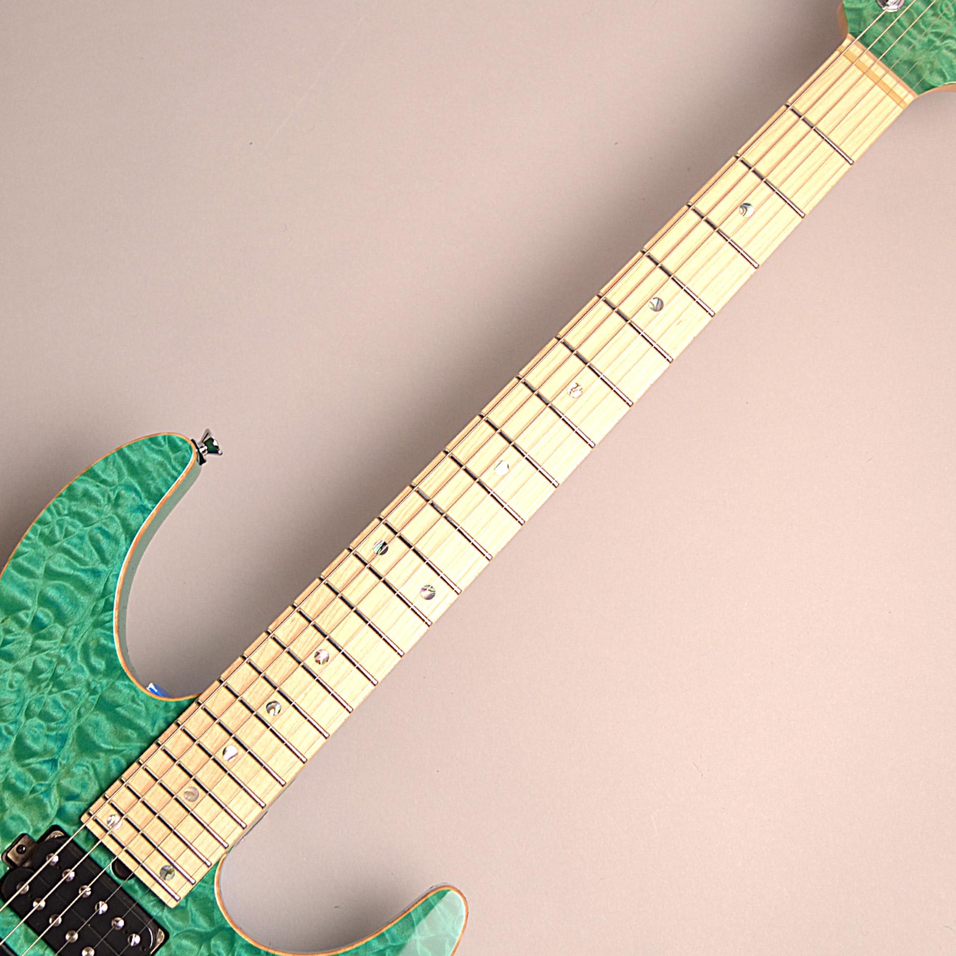 T's Guitars DST-PRO24 Maple (BoraBoraBlue)の指板画像