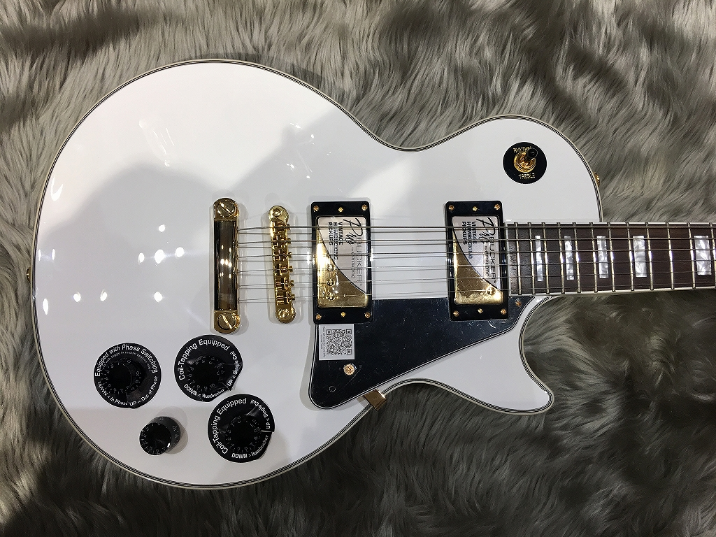 Les Paul CUSTOM PRO(ProBuckers & Coil-Tapping)のボディトップ-アップ画像