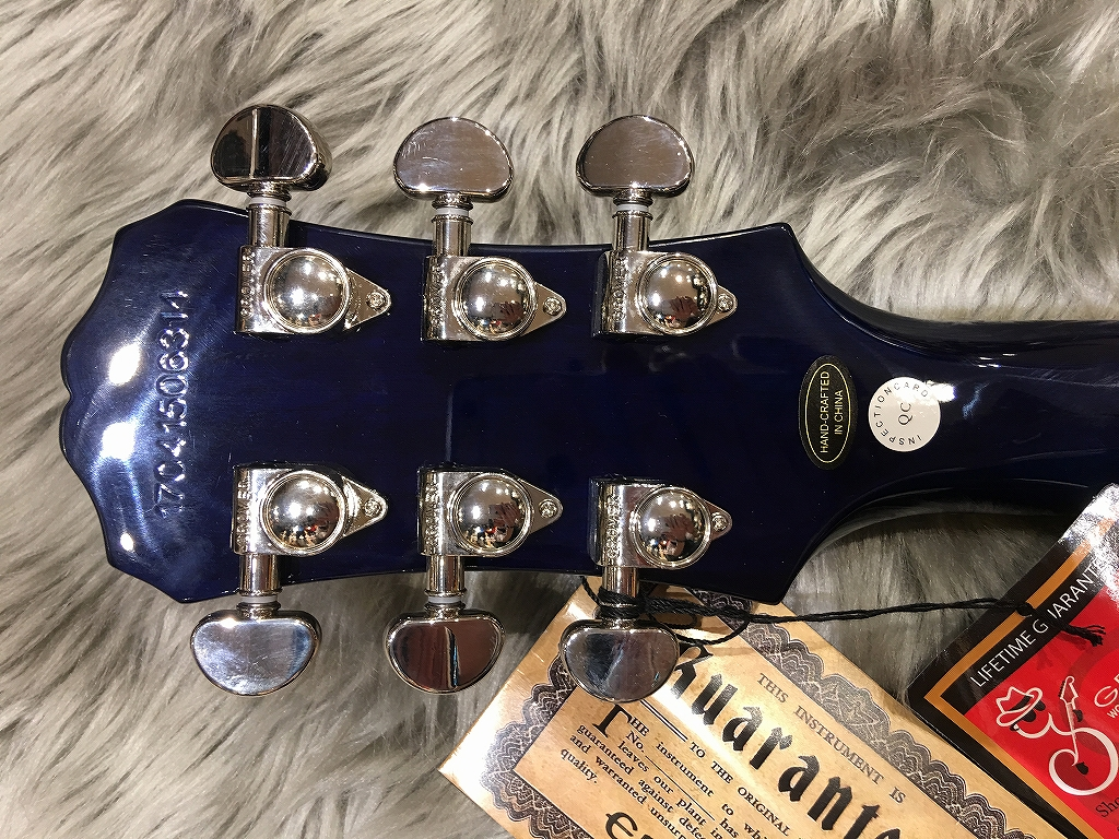 Les Paul STANDARD PLUS-TOP PRO(Probuckers & Coil-Tap)のヘッド裏-アップ画像