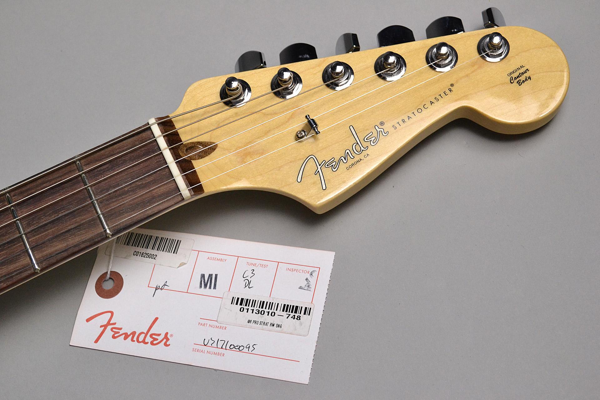 American Professional Stratocaster Sonic Grayのヘッド画像